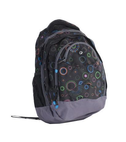 Рюкзак детский BagMaster BM-NIE 13 A72523WDСтуденческий рюкзак из полиэстера с тремя внутренними отделениями и отделением для ноутбука с диагональю 15,4 дюйма. Во внутренние отделения помещаются альбомы, тетради, контурные карты и так далее формата А4. Анатомическая спинка из воздухопроницаемого м