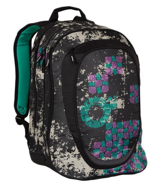Рюкзак детский TOPGAL HIT-801 / A72523WDСтуденческий рюкзак эргономичной формы с анатомической спинкой и тремя основными отделениями. Задняя часть армирована легкой алюминиевой рамкой. Широкие и мягкие плечевые ремни легко регулируются. Нагрудный ремень для фиксации рюкзака. В заднее отделение
