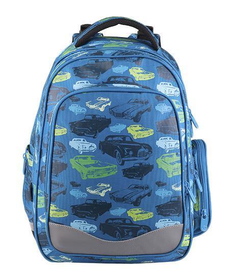 Рюкзак детский BagMaster BM-EV 004 B34806Школьный рюкзак из полиэстера с двумя внутренними отделениями и большим карманом на молнии на передней части. Во внутреннее отделение помещаются альбомы, тетради, контурные карты и так далее формата А4. Задняя часть армирована легкой алюминиевой рамкой. Д