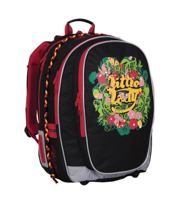 Topgal Рюкзак Little Lady72523WDДвухсекционный рюкзак Topgal Little Lady без сомнения подойдет для учеников 3-6 классов.Рюкзак оснащен комфортной анатомической спинкой с алюминиевым каркасом, мягкими подушечками на спинке из воздухопроницаемого материала и регулируемыми лямками, которые укреплены в верхней части. Также рюкзак обладает светоотражающими материалами по контуру рюкзака для безопасного передвижения через проезжую часть. Он состоит из двух главных отделений.Заднее отделение для учебников, ноутбука и других объемных предметов, а переднее отделение для тетрадей, альбомов и разных мелких предметов. Передний карман на молнии с органайзером, кармашками разного формата, а боковой для бутылки с водой объемом до 0,75л.Рюкзак выполнен из прочного материла и хорошо поддается чистке.