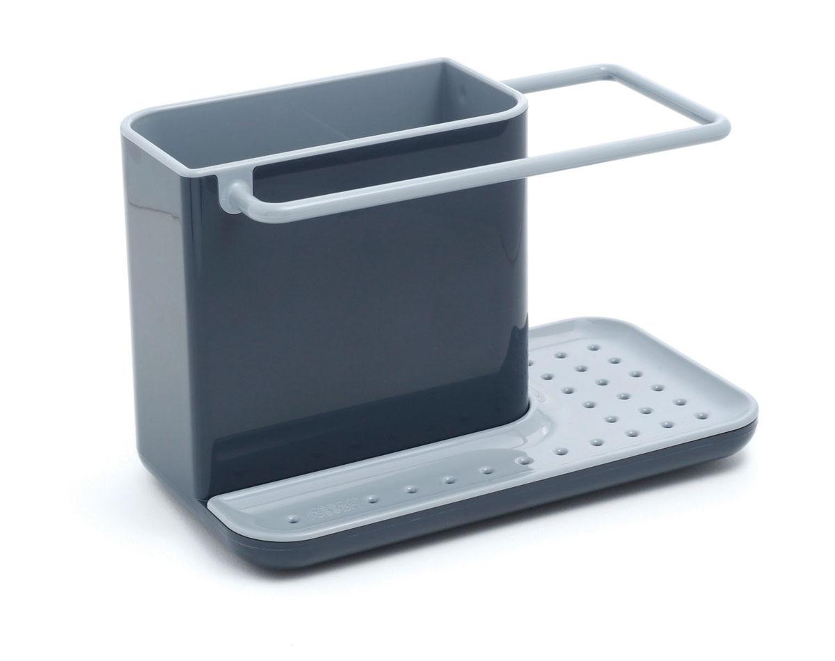 Органайзер для раковины Joseph Joseph Caddy, цвет: серый, черныйВетерок 2ГФОрганайзер для раковины Joseph Joseph Caddy изготовлен из прочного пластика. Это своеобразный органайзер для кухонных принадлежностей, таких как ершик для посуды, жидкость для мытья посуды, губка и тряпка. Для каждого предмета выделен отдельный отсек. Изделие имеет поддон для стока жидкости. На дне расположены резиновые ножки для большей устойчивости. Можно мыть в посудомоечной машине.