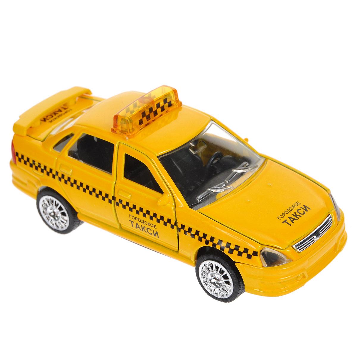 ТехноПарк Машинка инерционная  Лада-Приора Такси лада приора тюнинг торпеды