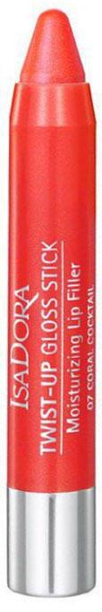 Isa Dora Блеск-карандаш для губ Twist-up Gloss Stick, тон №07 Coral Cocktail, 2,7 г28032022Блеск-карандаш для губ Isa Dora Twist-up Gloss Stick с глянцевым эффектом. Блеск заключен в удобную форму карандаша. Мягкая кремовая текстура с увлажняющими свойствами тает на губах и помогает зафиксировать влагу, дарит ощущение комфорта. Коллаген и гиалуроновая кислота оказывают уплотняющее и укрепляющее воздействие - губы выглядят более полными и гладкими. Нет необходимости затачивать карандаш благодаря специальному механизму выдвижного стержня. Товар сертифицирован.