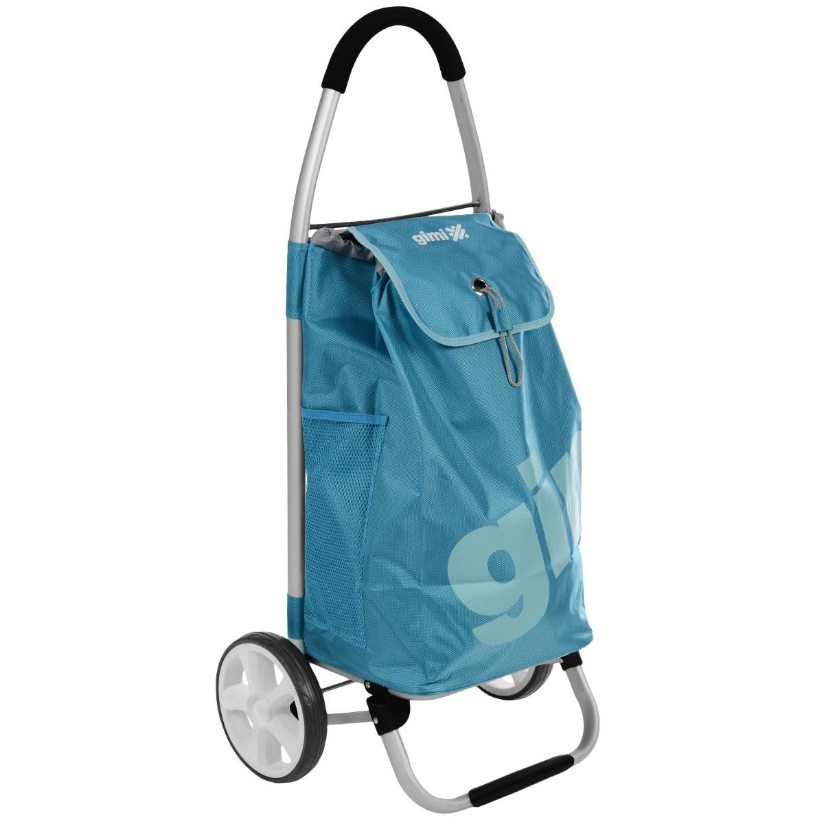 Сумка-тележка Gimi Galaxy, цвет: голубойБрелок для ключейХозяйственная сумка-тележка Gimi Galaxy - это очень мощная сумка-тележка длясамых непроходимых дорог и любой непогоды. Легкий каркас из алюминия снадежной подножкой и дополнительными перемычками на основании дляповышенной прочности, тщательно изготовленные детали из высокопрочногополимера.Колеса облегченные, со скользящей втулкой для лучшего вращения. Покрытиеколес изготовлено из севилена - износостойкого и морозоустойчивого материала.Широкая горловина сумки затягивается на кулиску и накрывается клапаном соригинальной застежкой. Внутри сумки - вставное пластиковое дно для жесткостии придания формы. Водоустойчивая сумка увеличенной толщины оснащена заднимкарманом на молнии и 2 боковыми карманами-сетками. Ручка с покрытием softtouch.Максимальная грузоподъемность: 30 кг.Вместимость сумки: 50 л.Размеры (вместе с тележкой): 47 х 37 х 102 см.Высота сумки: 60 см.Ширина сумки: 36 см.Глубина сумки: 23 см.