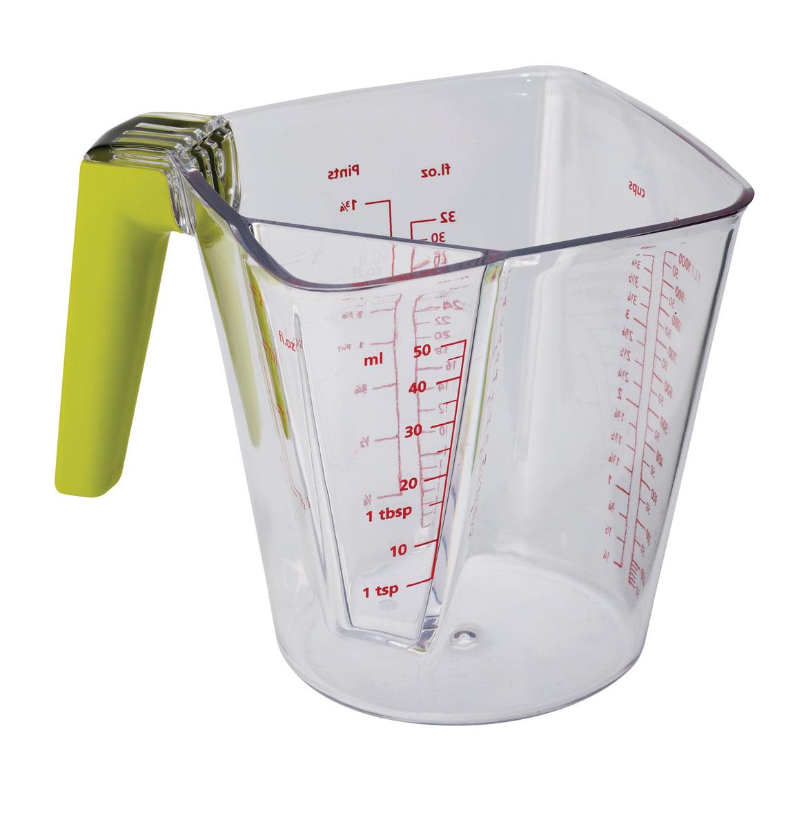 Мерный стакан Joseph Joseph, 2в1, 1 л. 40067SC-FD421005Мерный прозрачный стакан Joseph Joseph, выполненный из акрила, имеет удобную ручку и носик, которые делают изделие еще более простым в использовании. Универсальный двухкамерный мерный стакан может измерять от 5 мл до 1000 мл (1 л), также есть шкалы измерения в унциях (oz), чашках (cup) и пинтах (pints). Такой стаканчик пригодится на каждой кухне, ведь зачастую приготовление некоторых блюд требует известной точности.Можно мыть в посудомоечной машине.