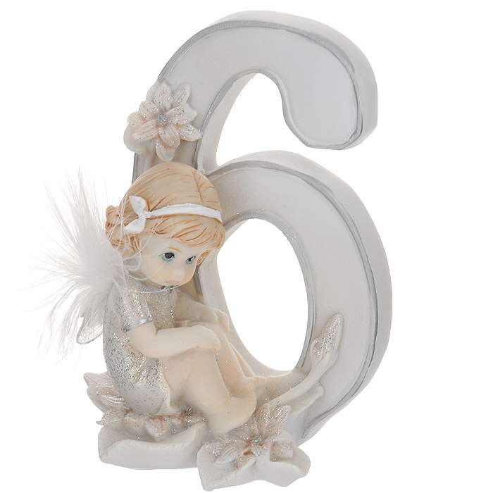 Статуэтка Molento Именинный ангелочек. 6 лет28778Статуэтка Molento Именинный ангелочек. 6 лет, выполненная из полистоуна, станет отличным подарком для вашего малыша! Все мы знаем, как порой непросто бывает выбрать подходящий подарок к тому или иному торжеству, а декоративные статуэтки Molento всегда были и останутся оригинальным подарком. Этот вид сувенира нельзя назвать бесполезной вещью. Статуэтка может стать великолепным украшением интерьера. Статуэтка является подарком на все времена, подобная вещь никогда не выйдет из моды.Спустя годы она будет только радовать владельца своими изящными формами и плавными линиями.