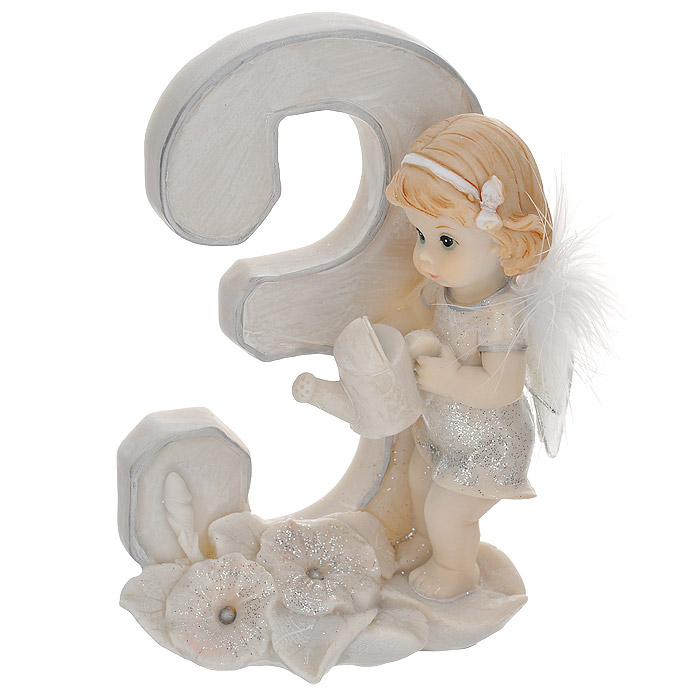Статуэтка Molento Именинный ангелочек. 3 года28047Статуэтка Molento Именинный ангелочек. 3 года, выполненная из полистоуна, станет отличным подарком для вашего малыша! Все мы знаем, как порой непросто бывает выбрать подходящий подарок к тому или иному торжеству, а декоративные статуэтки Molento всегда были и останутся оригинальным подарком. Этот вид сувенира нельзя назвать бесполезной вещью. Статуэтка может стать великолепным украшением интерьера. Статуэтка является подарком на все времена, подобная вещь никогда не выйдет из моды.Спустя годы она будет только радовать владельца своими изящными формами и плавными линиями.