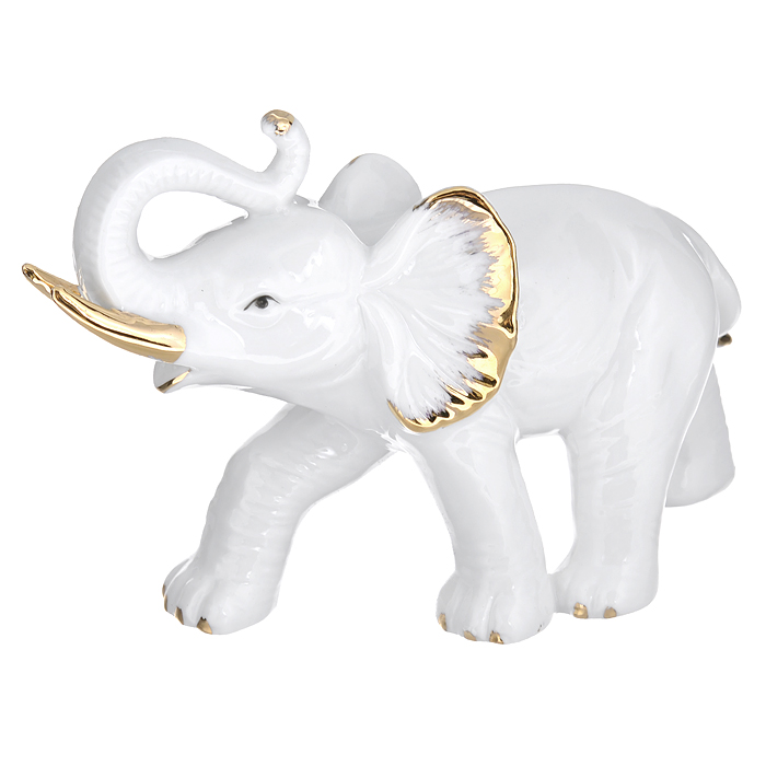 Фигурка декоративная Слон, высота 12 смFS-91909Декоративная фигурка выполнена из фарфора в виде слона. Эта фигурка является поистине произведением искусства, она воплощает креативное мышление современных дизайнеров и древнейшие традиции итальянских мастеров. Такая фигурка станет отличным дополнением к интерьеру. Вы можете поставить ее в любом месте, где она будет удачно смотреться, и радовать глаз.