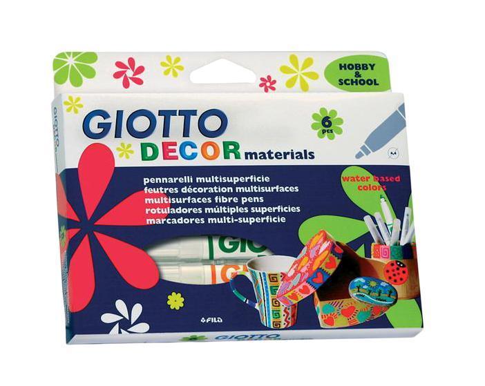 Фломастеры Giotto Decor Materials, для декорирования, 6 цветов453300