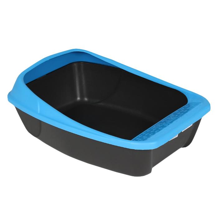 Туалет для кошек MPS Virgo, с бортом, цвет: голубой, 52 см х 39 см х 20 см06760Туалет для кошек MPS Virgo изготовлен из качественного прочного пластика. Высокий борт, прикрепленный по периметру лотка, удобно защелкивается и предотвращает разбрасывание наполнителя. Это самый простой в употреблении предмет обихода для кошек и котов.