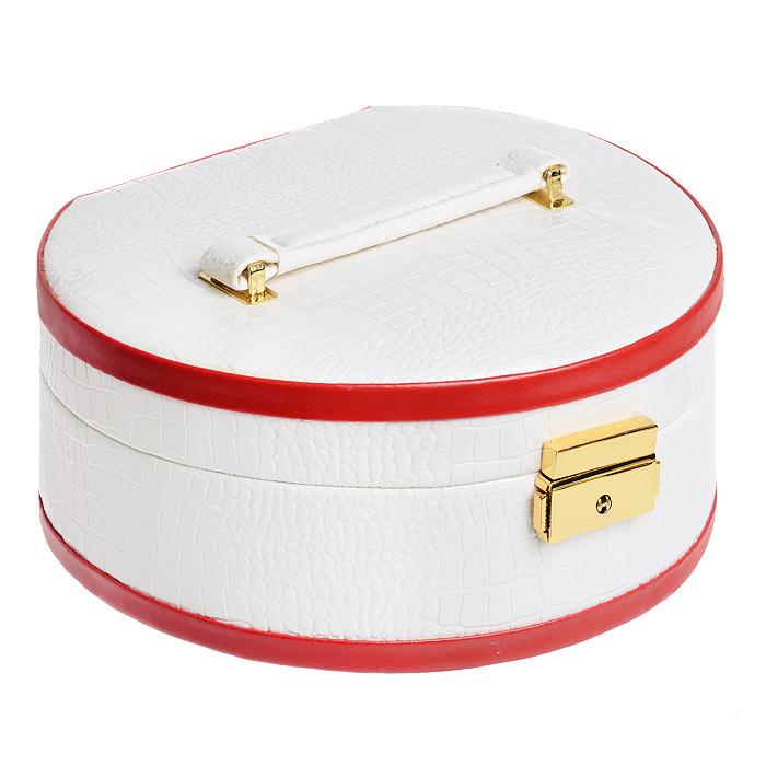 Шкатулка для украшений Sima-land, цвет: белый, красный. 154103 шкатулки patricia шкатулка для медикаментов 16 13 7 26см