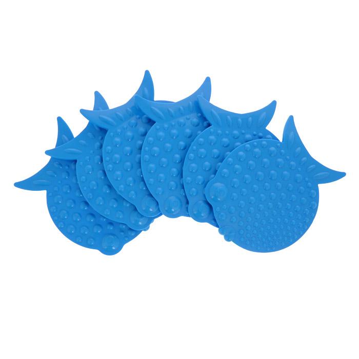 Набор мини-ковриков для ванной Перламутровая рыба, цвет: голубой, 6 шт68/5/3Набор Перламутровая рыба включает шесть мини-ковриков для ванной. Изготовлены из PVC (полимерные материалы). Коврики оснащены присосками, предотвращающими скольжение. Крепятся на дно ванны, также можно использовать как декор для плитки. Легко чистить.Комплектация: 6 шт.Материал: 100% полимерные материалы.Размер мини-коврика: 12 см х 9,5 см.
