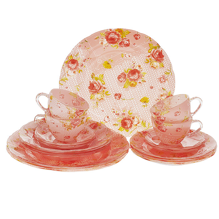 "Набор посуды ""Розочки"", 20 предметов, Porcelain Industry"
