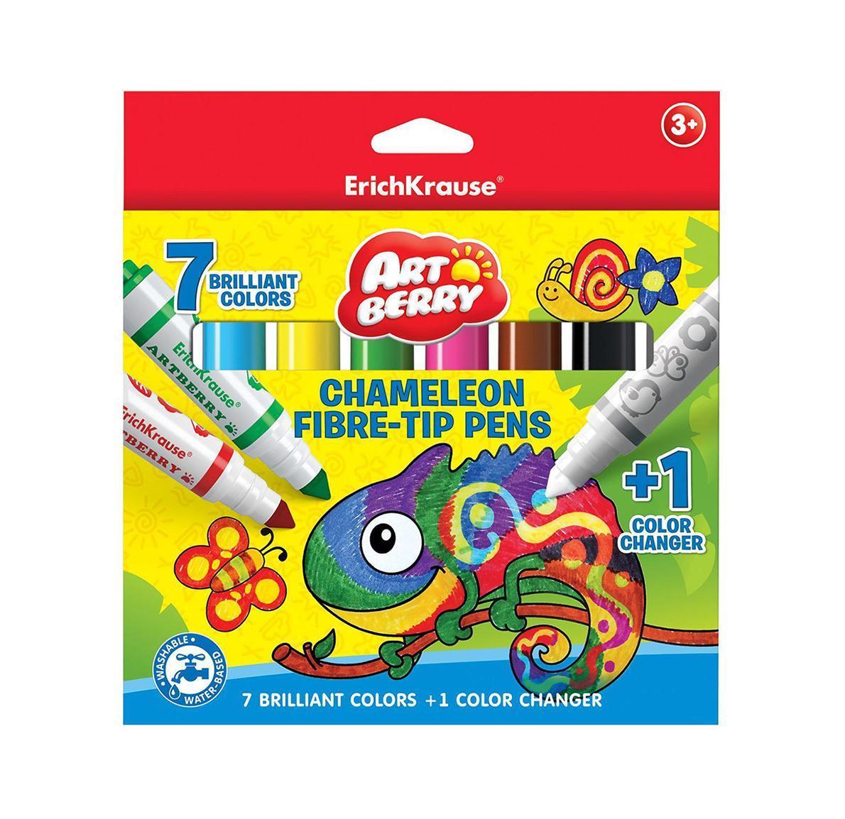 Фломастеры Хамелеон Jumbo Artberry 8цв (7+1)071500Не рекомендуется детям до 3-х лет.