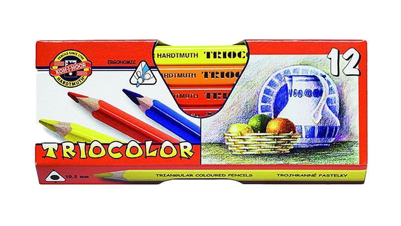 Цветные карандаши Triocolor, художественные, 12 цветов. 3152/12 KSC13S041944Цветные художественные карандаши Triocolor непременно, понравятся вашему юному художнику. Набор включает в себя 12 ярких насыщенных цветных карандашей, которые идеально подходят для малышей. Эргономичный трехгранный утолщенный корпус изготовлен из натуральной древесины. Карандаши имеют прочный неломающийся грифель, не требующий сильного нажатия и легко затачиваются. Порадуйте своего ребенка таким восхитительным подарком!