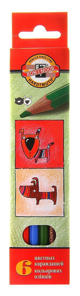 Цветные карандаши Собаки и Кошки, 6 цветов3591/6 5 KSЦветные карандаши Собаки и Кошки непременно, понравятся вашему юному художнику. Набор включает в себя 6 ярких насыщенных цветных карандашей, которые идеально подходят для малышей. Шестигранный корпус изготовлен из натуральной древесины. Карандаши имеют прочный неломающийся грифель, не требующий сильного нажатия и легко затачиваются. Порадуйте своего ребенка таким восхитительным подарком!