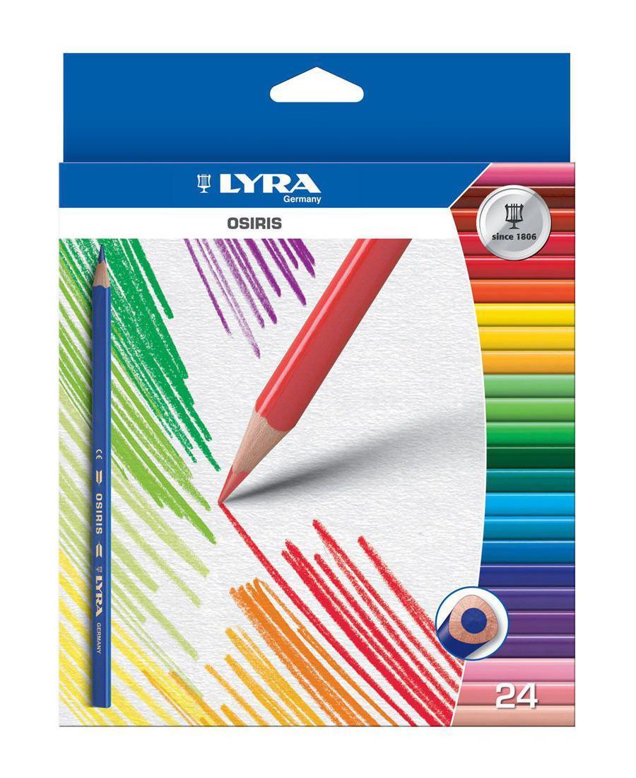 Цветные карандаши Lyra Osiris, 24 цвета72523WDЦветные карандаши Lyra Osiris непременно, понравятся вашему юному художнику. Набор включает в себя 24 ярких насыщенных цветных карандаша треугольной формы для удобного захвата. Идеально подходят для школы. Карандаши изготовлены из дерева, экологически чистые, с лакированным покрытием. Имеют прочный неломающийся грифель, не требующий сильного нажатия и легко затачиваются. Порадуйте своего ребенка таким восхитительным подарком! В комплекте: 24 карандаша.