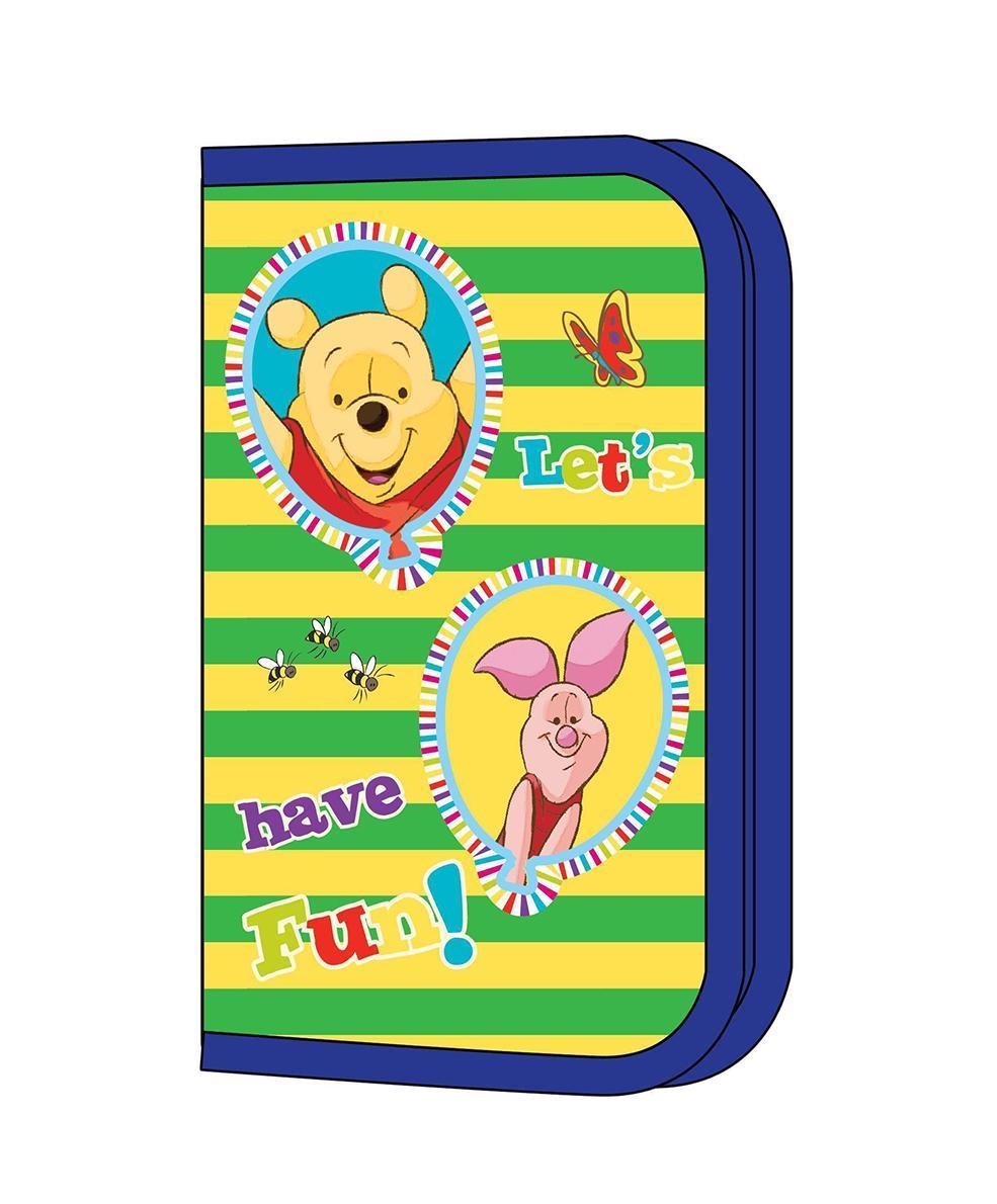 """Яркий пенал """"Привет, Винни!"""" предназначен для хранения ручек, линеек, карандашей и прочих канцелярских принадлежностей. Он выполнен из твердого плотного ламинированного картона с эффектом конгрева (с выпуклыми картинками) и полиэстера и оформлен изображением всеми любимых друзей - Винни-Пуха и Пятачка. Пенал содержит одно отделение с фиксаторами для карандашей, ручек и линеек и закрывается на застежку-молнию. Пенал """"Привет, Винни!"""" станет для вашего ребенка лучшим помощником в получении знаний и скрасит долгие часы школьных занятий."""