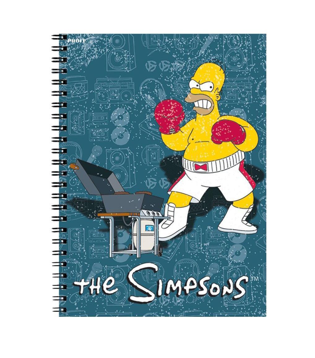 Тетрадь Proff The Simpsons офсет/твердая глянцевая ламинированная обложка/евроспираль35192