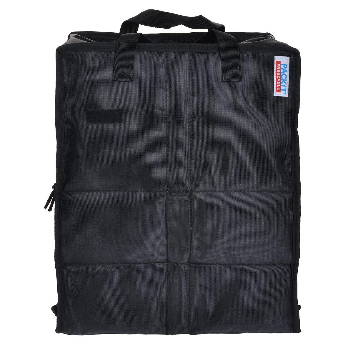 Сумка хозяйственная PACKIT Shop Cooler, изотермическая, цвет: черный. PKT-SH-BLAS03301004Хозяйственная сумка PACKIT Shop Cooler выполнена их 100% полиэстера (PVC- & BPA free). Обладает изотермическими свойствами. Внутрь сумки вшит специальный охлаждающий гель, который способен сохранить холод до 6 часов (в зависимости от внешней температуры). Поэтому в такой сумке можно переносить мясо, молочные продукты, фрукты, замороженные овощи; даже в жаркую погоду продукты останутся свежими. Внутри не содержится перегородок, продукты охлаждаются со всех сторон. Изделие водонепроницаемое, предотвращает попадание конденсата внутрь. Сумка закрывается на молнию, имеет две короткие ручки для переноски. Удобно складывается с помощью липучки; в сложенном виде занимает минимум места. Чтобы сумка сохраняла изотермический эффект, необходимо сложить сумку и положить в холодильник на 12 часов.Только для ручной стирки. Не стирать в посудомоечной и стиральной машине.Размер (в разложенном виде): 32 х 19 х 37,5 см.Размер (в сложенном виде): 20 х 17 х 12 см.Возврат товара возможен только через сервисный центр.Гарантийный центр: м. ВДНХ, Ботанический сад129223, г. Москва, Проспект Мира, 119, ВВЦ, строение 323 +7 495 974 3494 service@omegatool.ruВремя работы сервисного центра:Пн-чт: 10.00-18.00 Пт: 10.00- 17.00 Сб, Вс: выходные дни