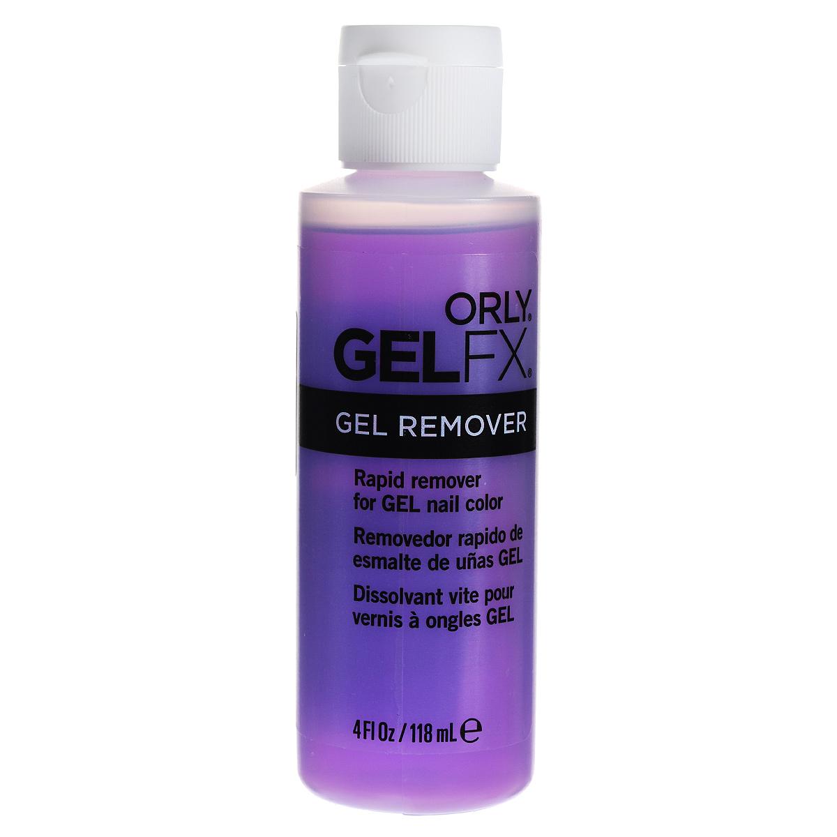 Orly Жидкость для удаления гель-лака Gel Fx Remover, 118 мл1301210Жидкость для снятия гель-маникюра Gel FX Remover легко и быстро удаляет гелевое покрытие.Способ применения: Процедура удаления покрытия гель-маникюра Gel FX абсолютно проста и безболезненна.Четыре простых шага – и вы можете снова наносить любой понравившийся оттенок гель-маникюра Gel FX.1. Пилочкой c абразивностью 180 ед. полностью удалите верхний слой гель-лака.2. Хорошо пропитайте спонж жидкостью для удаления гель-маникюра Gel FX Remover. Оберните пальцы спонжем и фольгой. 3. Выдержите ногти в течение 10 минут, проверьте, как размягчился гель-маникюр.4. Удалите фольгу со спонжем с пальцев и мягко снимите гель-маникюр с ногтей пушером ORLY Pusher & Remover. Товар сертифицирован.