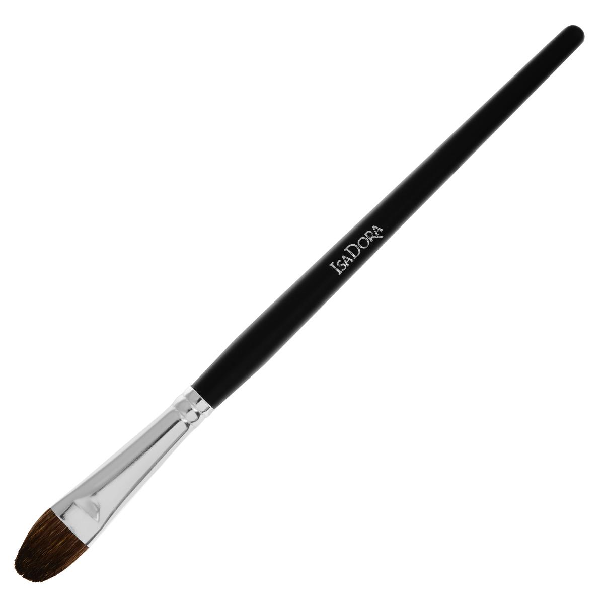 Isa Dora Кисть для теней Eye Shadow Brush Large, большая3925Большая кисть для теней Isa Dora Eye Shadow Brush Large - незаменимый инструмент для создания идеального макияжа глаз. Кисть имеет оптимальный размер и форму для эффективной и равномерной растушевки теней, позволяет создать плавные переходы цвета. Кисть изготовлена из натурального волоса, стерилизована. Длинная профессиональная ручка выполнена из высококачественного пластика.Товар сертифицирован.
