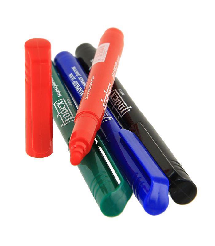 Набор маркеров Index для доски, 4 цвета. IMW530/472523WDВ маркерах используются нетоксичные высококачественные чернила на спиртовой основе.