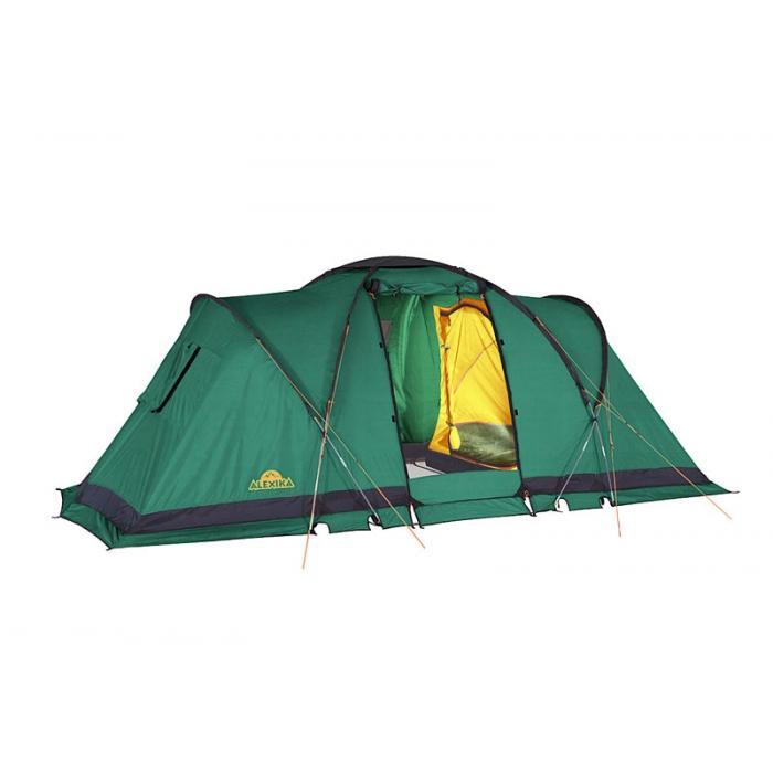 Палатка Alexika Indiana 4 Green9165.4401Данная модель кемпинговой палатки - одна из самых популярных в последнее время среди туристов. Ей отдают предпочтение как семьи, отправляющиеся на природу, так и молодежные компании. Площадь палатки позволяет свободно разместиться в ней 4 людям, обеспечивая им комфортный отдых. Кемпинговая палатка ALEXIKA INDIANA 4 состоит из двух двухместных спален. В соединяющем две спальни помещении может полноценно стоя расположиться взрослый человек, так как его высота в этом месте достигает 180 см. Эта модель палатки дает возможность нескольких вариантов использования внутреннего пространства, так как спальни могут подвешиваться изнутри. Вы можете соорудить в ней как две спальни, так и одну, отпустив оставшееся пространство под столовую или склад. Палатку INDIANA 4 удастся установить даже в ветреную и дождливую погоду, так как ее монтаж начинается с внешнего тента. Еще одно преимущество модели - компактность в сложенном виде. Палатка оснащена всеми необходимыми элементами кемпингового жилища. В ней предусмотрена противомоскитная сетка, система фильтрации, карманы, петля для фонарика. Благодаря герметизации швов внутрь палатки не попадет ни капли влаги. Кроме этого палатка отличается хорошей ветроустойчивостью. В комплекте предусмотрен съемный пол для тамбурной части. Вес: 14,3 кг. Количество мест: 4. Сезонность: весна-осень. Размер: 460 x 240 x 180 см. Размер в чехле: 68 х 26 см. Материал тента: Polyester 190T PU 4000 mm. Материал дна: Polyester 150D Oxford PU 6000 mm. Внутренняя палатка: есть. Материал дуг: Durapol 11 mm. Ветроустойчивость: средняя. Количество входов: 1. Цвет: зеленый. Область применения: кемпинг. Технологии:Пропитка, задерживающая распространение огня. Швы герметизированы термоусадочной лентой. Нагруженные элементы палатки усилены специальным материалом. Ветрозащитный полог по периметру прошит прочной стропой. Молнии на внешнем тенте фиксируются алюминиевыми крючками. Внутренняя палатка оснащена противомоскитной сеткой