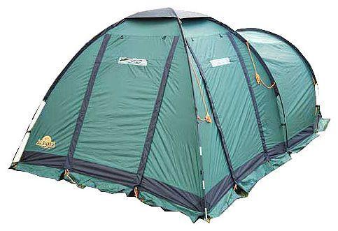 Палатка Alexika Nevada 4 GreenKOCAc6009LEDКемпинговая палатка NEVADA 4, рассчитанная на четырех человек, ярко выделяется среди прочих моделей большим просторным тамбуром. Еще одно ее преимущество - наличие внутренней палатки, подвешивающейся изнутри. Это позволит вам быстро разбить палатку даже в сильный дождь. В комплекте идет съемный пол для тамбурного отсека. Тамбур палатки можно использовать для отдыха, поставив в нем складные стульчики и небольшой столик, а можно отпустить его под склад для вещей. Дно палатки, выполненное из плотного и крепкого материала Polyester, предотвратит намокание спальных мешков даже во время проливного дождя. Модель NEVADA 4 незаменима во время весенних и осенних путешествий, но особенно комфортно отдыхать в ней летом. Попасть во внутреннее пространство можно через два отдельных входа, поэтому в такой палатке семья или группа из четырех человек будет чувствовать себя комфортно. Наружная часть модели NEVADA 4 выполнена из плотного тентованного полотна, которому не страшен никакой ливень. Ребра палатки укреплены при помощи крепких и прочных дуг, в силу чего даже во время ветров она не изменяет форму, не сворачивается, а внутреннее пространство надежно защищено от сквозняков. Вес: 12,6 кг. Количество мест: 4. Сезонность: весна-осень. Размер: 450 x 250 x 175 см. Размер в чехле: 25 х 30 х 72 см. Материал тента: Polyester 185T PU 4000 mm. Материал дна: Polyester 150D Oxford PU 6000 mm. Внутренняя палатка: есть. Материал дуг: Durapol 11 mm. Ветроустойчивость: средняя. Количество входов: 3. Цвет: зеленый. Область применения: кемпинг. Технологии:Пропитка, задерживающая распространение огня. Швы герметизированы термоусадочной лентой. Нагруженные элементы палатки усилены специальным материалом. Ветрозащитный полог по периметру прошит прочной стропой. Молнии на внешнем тенте фиксируются аллюминиевыми крючками. Внутренняя палатка оснащена противомоскитной сеткой, карманами, петлей для фонаря. Нижняя часть тента усилена защитной полосой из Oxford 15