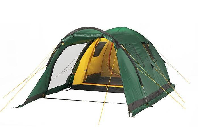Палатка Alexika Grand Tower 4 Green67742Удобная палатка для кемпинга Tower 4 Grand стала продолжением предыдущей модели Tower 4. Ее разработчики учли все пожелания покупателей и предусмотрели множество новых возможностей, которые делают ваши походы на природу еще более комфортными. Вместительная палатка предназначена для отличного отдыха четырех человек, начиная с середины мая и до середины октября. Палатка компактна и не создает никаких проблем при ее транспортировке. Отличительная особенность модели - огромный тамбур, способный вместить и обеденный столик, и складные стульчики. Тамбур оснащен съемным полом, поставляющимся в комплекте вместе с палаткой. Широкий боковой вход закрывается антимоскитной сеткой, которая позволяет туристам забыть о комарах. Вы можете спокойно отдыхать в теплое время года даже вблизи водоема и не волноваться о прилете этих незваных гостей. Вход во внутреннюю палатку отделяется пологом, закрывающимся при помощи удобных креплений. Прозрачные вставки в боковых стенках палатки дают возможность наполнить ее внутреннее пространство солнечным светом - вы можете быть уверены, что ваше временное жилище будет светлым и уютным. Крепкие дуги и отличная ветроустойчивость Tower 4 Grand позволяют вам не волноваться за ее надежность. Вес: 12,0 кг. Количество мест: 4. Сезонность: весна-осень. Размер: 520 x 260 x 178 см. Размер в чехле: 25 х 70 см. Материал тента: Polyester 190T PU 4000 mm. Материал дна Polyester:150D Oxford PU 6000 mm. Внутренняя палатка: есть. Материал дуг: Durapol 11 mm. Ветроустойчивость: средняя. Количество входов: 3. Цвет: зеленый. Область применения: кемпинг. Технологии:Пропитка, задерживающая распространение огня. Швы герметизированы термоусадочной лентой. Нагруженные элементы палатки усилены специальным материалом. Ветрозащитный полог по периметру прошит прочной стропой. Молнии на внешнем тенте фиксируются аллюминиевыми крючками. Внутренняя палатка оснащена противомоскитной сеткой, карманами, петлей для фонаря. Нижняя часть тента 