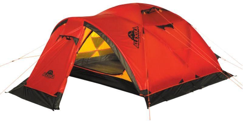 Палатка Alexika Mirage 49101.4103Отличная экспедиционная палатка с повышенной ветроустойчивостью каркаса и внешнего тента предназначена для организации высокогорных базовых лагерей и длительной эксплуатации в тяжелых погодных условиях. Имеется большой тамбур для снаряжения. В палатке при необходимости могут разместиться 5 человек. 4-х местная эволюция отлично зарекомендовавшей себя палатки MIRAGE 3. Вес: 6,6 кг. Количество мест: 4. Сезонность: зима. Размер: 395 x 210 x 120 см. Размер в чехле: 20 x 52 см. Материал тента: Nylon 30D 250T RipStop Silicon 3000 mm. Материал дна: Polyester 150D Oxford PU 6000 mm. Внутренняя палатка: есть. Материал дуг: Alu 8.5 mm. Ветроустойчивость: высокая. Количество входов: 2. Цвет: красный. Область применения: экстрим. Технологии:Пропитка, задерживающая распространение огня. Швы герметизированы термоусадочной лентой. Узлы палатки, испытывающие высокие нагрузки, усилены более прочной тканью. Край тента обшит прочной стропой. Молнии на внешнем тенте фиксируются алюминиевым крючком. Эффективная система вентиляции состоит из двух вентиляционных окон с ветровым клапаном, расположенных в верхней точке купола, плюс дополнительное вентиляционное окно в тамбуре. Прочный нейлоновый тент с усиленным плетением RipStop и силиконовым покрытием. Жесткий пятидуговый каркас. Полог (юбка) по периметру палатки защищает от попадания дождя и снега и при загрузке увеличивает устойчивость конструкции. При необходимости быстро собирается с помощью петель с фиксаторами. Молнии YKK на внешнем тенте. Внутренняя палатка оснащена противомоскитной сеткой, четырьмя карманами, кольцом для фонаря и полочкой для мелких предметов. Возможность закрывать вентиляционное окно. Цвет: оранжевый. Материал: Nylon 6.6 30D 250T RipStop Silicon PU, polyester 150D Oxford PU.