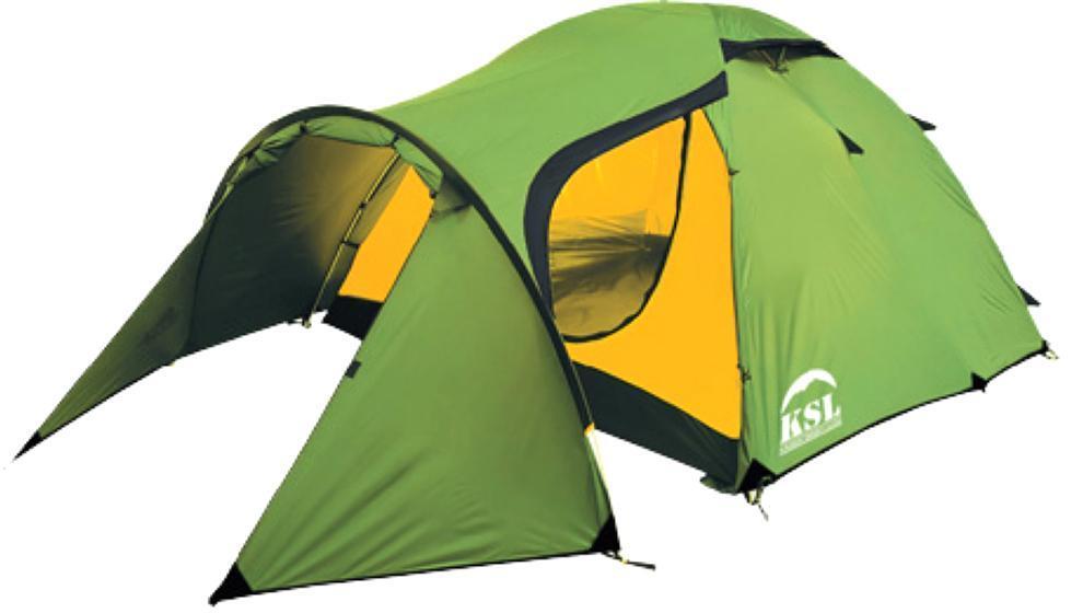 Палатка KSL Cherokee 367742Трехместная палатка CHEROKEE 3 от KSL предназначена для туристических путешествий в летнее, весеннее или осеннее время. Палатка состоит из внешнего и внутреннего тента, которые крепятся к каркасам из дюраполовых дуг. Тент изготавливается из прочной ткани с высококачественной водоотталкивающей и огнеупорной пропиткой. Дно модели также отличается хорошей водонепроницаемостью, поэтому в палатке можно отдыхать с комфортом и в сырую погоду. Палатка CHEROKEE 3 относится к моделям со средним классом устойчивости к ветру и дождю, однако способна выдерживать довольно значительные порывы ветра и проливной ливень. Внутренняя палатка состоит из одной комнаты, которая хорошо вентилируется благодаря наличию 2-х вентиляционных окон, имеющих ветровые клапаны. Три входа обеспечивают удобство пользования. В комплекте идут две москитные сетки, защищающие от насекомых и позволяющие вам спокойно наслаждаться притоком свежего воздуха в ночное время, не боясь быть искусанными назойливыми комарами. Просторный тамбур дает возможность разместить не только велосипед, но и походную кухню и взятое в поход туристическое снаряжение. Палатка CHEROKEE 3 позволит отлично провести уик-энд на природе, не пренебрегая удобством и чувствуя себя комфортно. Вес: 5,4 кг. Количество мест: 3. Сезонность: весна-осень. Размер: 410 x 180 x 130 см. Размер в чехле: 24 x 52 см. Материал тента: Polyester 190T PU 2500 mm. Материал дна: Polyester 150D Oxford PU 3000 mm. Внутренняя палатка: есть. Материал дуг: Durapol 8.5 mm. Ветроустойчивость: средняя. Количество входов: 3. Область применения трекинг. Пропитка, задерживающая распространение огня.Швы герметизированы термоусадочной лентой.Узлы палатки, испытывающие высокие нагрузки, усилены более прочной тканью.Край тента обшит прочной стропой.Молнии на внешнем тенте фиксируются алюминиевым крючком.Внутренняя палатка оснащена противомоскитной сеткой, четырьмя карманами, кольцом для фонаря и полочкой для мелких предметов.Эффективная система вен