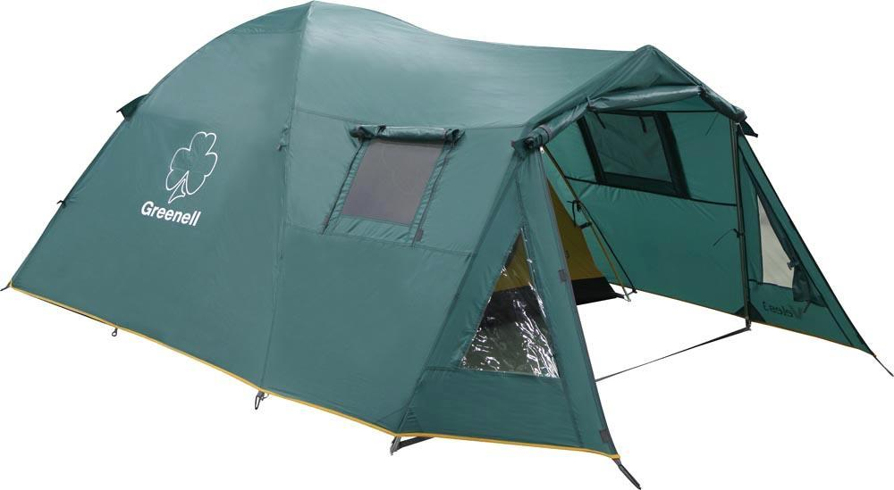 Палатка Greenell Veles 4 v.2KOC-H19-LEDПалатка Greenell Велес 4 v.2 имеет два входа. Два тамбура, один большого размера. Вентиляционные окна с сеткой и клапаном на молнии. Возможна установка без тента. Особенности конструкции:КарманыПрозрачные окнаПроклеенные швыПротивомоскитная сетка Характеристики: Вместимость: 4 человека. Размер палатки в разложенном виде (ДхШхВ): 400 см х 240 см х 160 см. Наружный тент: Poly Taffeta 190T PU 3000. Внутренняя палатка: Polyester 190T дышащий. Дно: Tarpauling. Каркас:дуги из фибергласса диаметром 9,5 мм. Вес:8340 г. Размер в сложенном виде: 68 см х 23 см х 23 см. Изготовитель:Китай. Артикул: 25503-303-00.