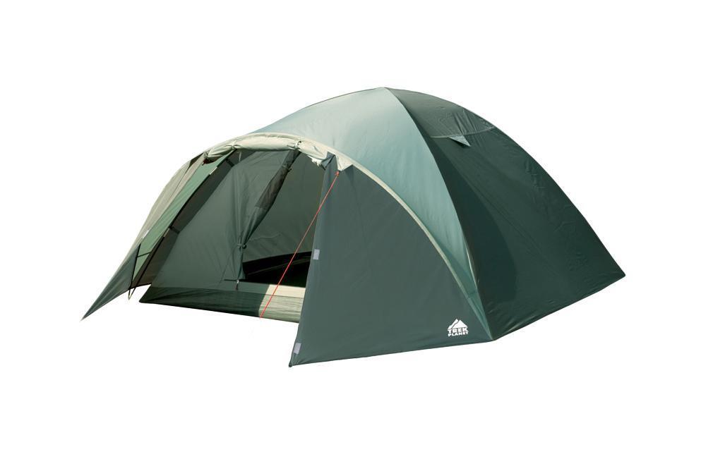Палатка трехместная TREK PLANET Denver Air 3, цвет: оливковый67742Трехместная палатка куполообразной формы Trek Planet Denver Air 3 с отличной вентиляцией, вместительным тамбуром и двумя входами, отлично подходит для длительного путешествия.Особенности модели:Простая и быстрая установка.Тент палатки из полиэстера, с пропиткой PU водостойкостью 3000 мм, надежно защищает от дождя, все швы проклеены.Дно палатки из прочного полиэстера Oxford водостойкостью 6000 мм.Каркас из жестких, прочных и легких композитных дуг (Durapol).Внутренняя палатка из дышащего полиэстера, обеспечивает вентиляцию помещения и позволяет конденсату испаряться, не проникая внутрь палатки.Два входа во внутреннюю палатку с противоположных сторон тента.Удобная D-образная дверь с москитной сеткой в полный размер на каждом входе во внутреннюю палатку.Вентиляционное окно.Внутренние карманы для мелочей.Возможность подвески фонаря в палатке.Для удобства транспортировки и хранения предусмотрен современный компрессионный чехол с ручкой.Trek Planet - проверенный туристический бренд по производству товаров для туристов, охотников и рыболовов: палатки для активного отдыха, спальники, рюкзаки, туристические коврики и аксессуары. Trek Planet использует лучшие износостойкие материалы и последние технологические разработки.Размер: 200 х (210+90) х 120 см.Размер внутренней палатки: 200 х 210 х 120см.Размер палатки в чехле: 18 х 18 х 62 см.