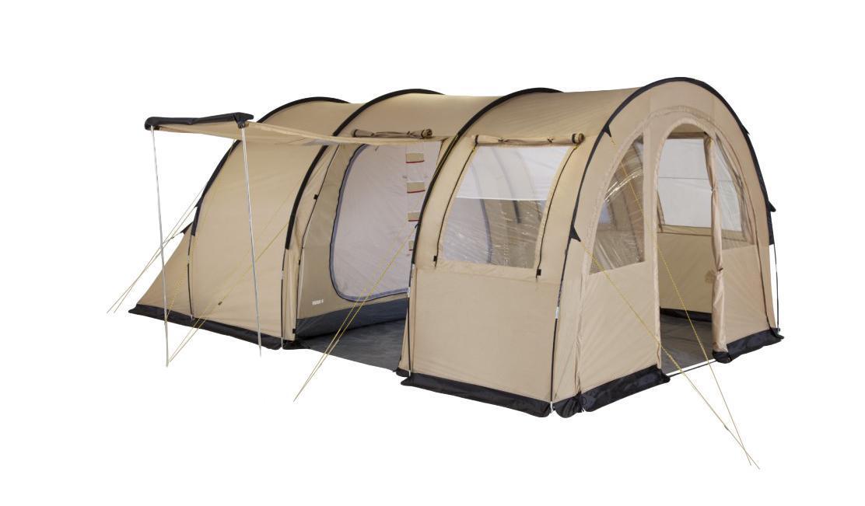 Палатка четырехместная TREK PLANET Vario 4, цвет: песочный70247Двухслойная четырехместная семейная палатка в форме полубочки TREK PLANET Vario 4 с отличной вентиляцией и огромным помещением, позволяющим с комфортом расположиться внутри всей семьей или небольшой компании отдыхающих - отличный выбор для семейного кемпинга и отдыха на природе.Особенности:Тент палатки из полиэстера с пропиткой PU надежно защищает от дождя и ветра,Все швы проклеены,Большое и высокое внутреннее помещение, где свободно размещается кемпинговый стол и стулья на 4-5 человек,Съемный пол в тамбуре из армированного полиэтилена,Передняя стенка палатки может быть перестегнута на вторую секцию дуг, образуя козырек перед палаткой, а также может быть снята совсем,Четыре обзорных окна со шторкой в тамбуре, совмещенные с вентиляционными окнами из москитной сетки,Защитная юбка из армированного полиэтилена по периметру тамбура,Большой выносной козырек на металлических стойках (боковой вход),Дуги из прочного стеклопластика,Дно из прочного водонепроницаемого армированного полиэтилена позволяет устанавливать палатку на жесткой траве, песчаной поверхности, глине,Внутренняя палатка из дышащего полиэстера, обеспечивают вентиляцию помещения и позволяют конденсату испаряться, не проникая внутрь палатки,Трехпозиционное вентиляционное окно в спальном отделении(закрыто, частично открыто, полностью открыто),Съемная разделительная перегородка в спальном отделении,Раздельный D-образный вход в каждое спальное отделение,Москитные сетки на на каждом входе во внутреннюю палатку в полный размер двери,Внутренние карманы для мелочей,Удобный органайзер между дверьми в спальное отделение,Возможность подвески фонаря в палатке,