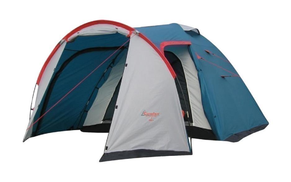 Палатка CANADIAN CAMPER RINO 2 (цвет royal)30200007Палатка Canadian Camper RINO 2 - простая в установке двухслойная двухместная палатка с хорошей вентиляцией. Имеет увеличенный тамбур с двумя входами. Внутреннее помещение с вентиляционными окнами. Два входа во внутреннее помещение и окна занавешиваются москитными сетками. Внутри есть кольцо для подвешивания лампы или фонаря, карманы для мелочей. Инструкция по сборке вшита в сумку-чехол для палатки. Палатка Canadian Camper RINO 2 обладает солидным запасом прочности и надежности: проклеенные швы, дуги выполнены из фибергласа, тент из полиэстера с высокой водостойкостью (5000 мм. вод. ст.), огнеупорной пропиткой и защитой от ультрафиолета, дно также из полиэстера с водостойкостью 7000 мм вод. столба. Палатка имеет ветрозащитную/снегозащитную юбку, что делает ее практически всесезонной. Внутреннее помещение выполнено из дышащего нейлона.Размеры внешней палатки: 320 x 160 x 135 см. Размеры внутренней палатки: 210 x 155 x 130 см.