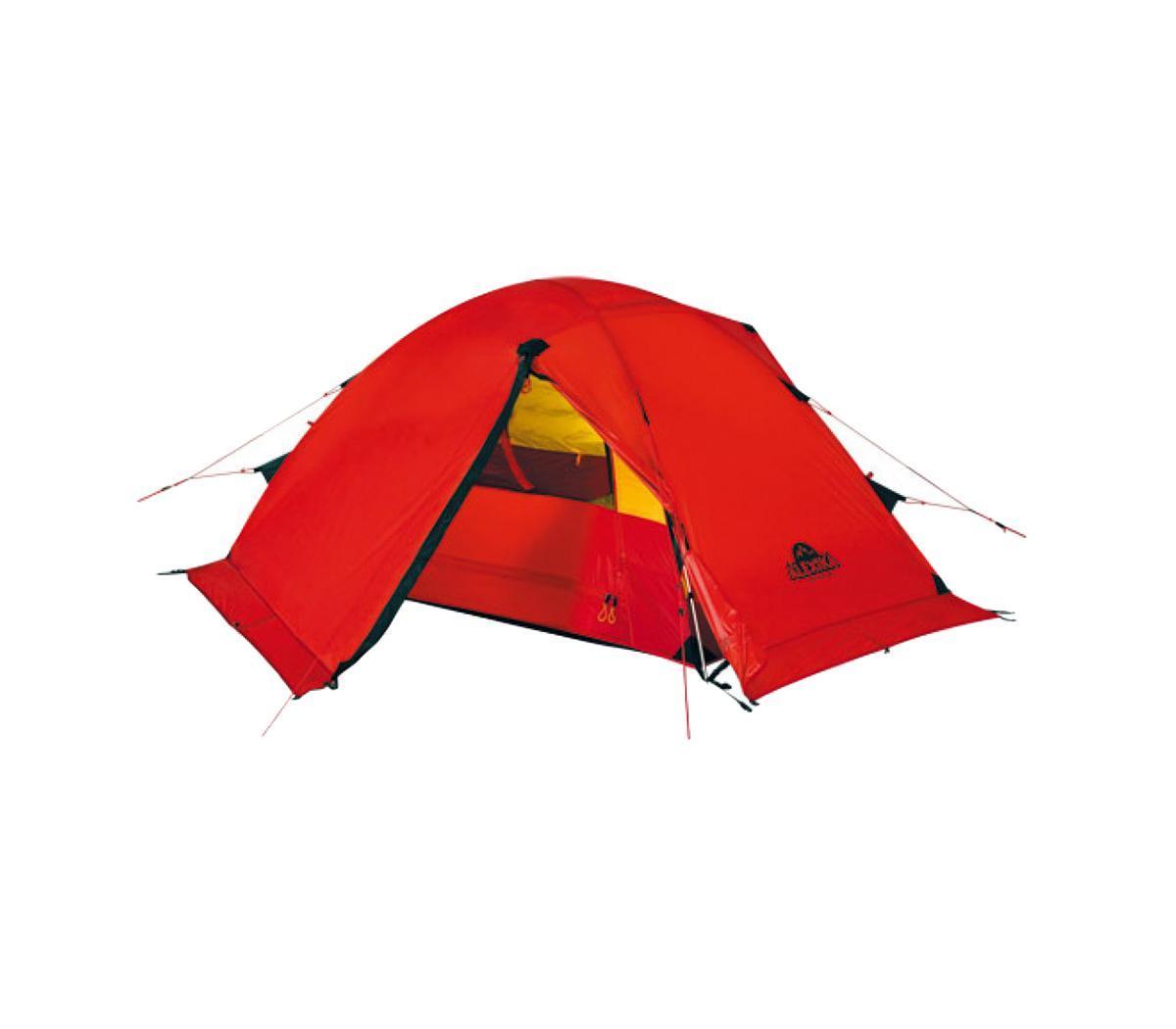 Палатка Alexika Storm 2 RedKOCAc6009LEDЛегкая экспедиционная палатка с двумя тамбурами предназначена для организации высокогорных лагерей, восхождений и эксплуатации в сложных погодных условиях. Обладает высокой ветроустойчивостью, длительное время способна выдерживать сильный дождь и снегопад. Вес: 3,8 кг. Количество мест: 2. Сезонность: зима. Размер: 240 x 215 x 90 см. Размер в чехле: 18 x 52 см. Материал тента: Nylon 30D 250T RipStop Silicon 3000 mm. Материал дна: Polyester 150D Oxford PU 6000 mm. Внутренняя палатка: есть. Материал дуг: Alu 8.5 mm. Ветроустойчивость: очень высокая. Количество входов: 2. Цвет: красный. Область применения: экстрим. Технологии:Пропитка, задерживающая распространение огня. Швы герметизированы термоусадочной лентой. Тент устойчив к ультрафиолету. Узлы палатки, испытывающие высокие нагрузки, усилены более прочной тканью. Край тента обшит прочной стропой. Молнии на внешнем тенте фиксируются алюминиевым крючком. Эффективная система вентиляции состоит из двух вентиляционных окон с ветровым клапаном, расположенных в верхней точке купола. Прочный нейлоновый тент с усиленным плетением RipStop и силиконовым покрытием. Полог (юбка) по периметру палатки защищает от попадания дождя и снега и при загрузке увеличивает устойчивость конструкции. При необходимости быстро собирается с помощью петель с фиксаторами. Молнии YKK на внешнем тенте. Цвет: оранжевый. Материал: Nylon 6.6 30D 250T RipStop Silicon PU, polyester 150D Oxford PU.