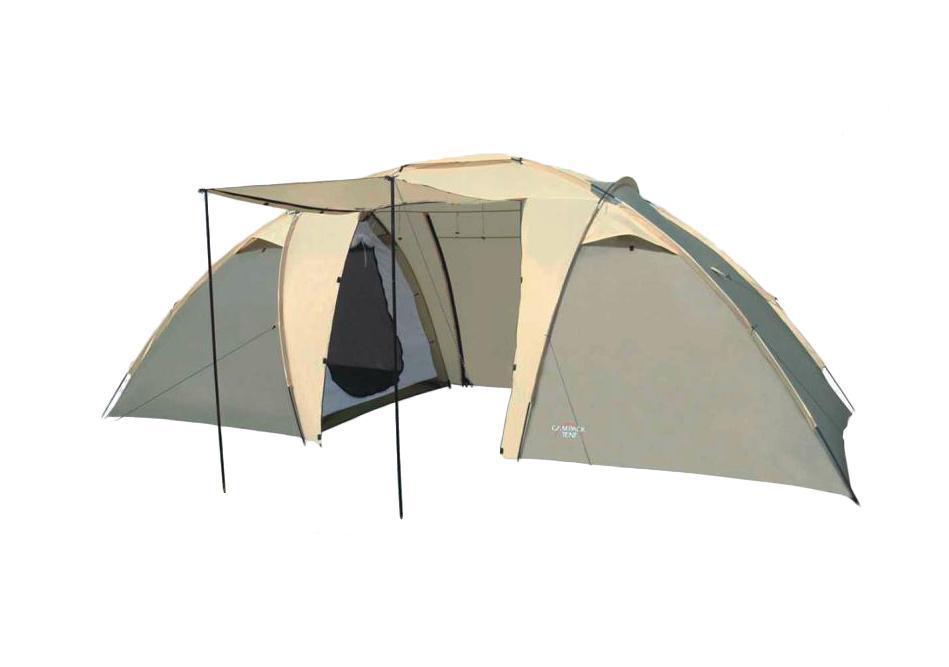 Палатка Campack Tent Travel Voyager 425383-303-00Классическая двухкомнатная кемпинговая палатка для несложных походов исемейного отдыха на природе. Конструкция позволяет использовать ее как в леснойзоне, так и в степной равнинной местности. Палатка оснащена дополнительнымивентиляционными окнами, москитной сеткой на центральном входе в тамбур.Модель Travel Voyager имеет два раздельных входа. Полог основного входа имеетдополнительные стойки и может использоваться в качестве навеса.Особенности:Высокопрочное дно изготовлено из армированного полиэтилена, не пропускаетвлагу и устойчиво к истиранию. High Quality каркас изготовлен из фиберглассаи обеспечивает надежность и устойчивость.Внутри палатки имеется подвеска для фонаря и карманы для хранения мелочей.Проклеенные швы гарантируют герметичность и надежность в любой ситуации.Ткань тента: 190T P. Taffeta;Ткань палатки: 170T P. Taffeta;Ткань дна: Tarpauling;Каркас: фибергласс 9,5 мм, сталь 16 мм.