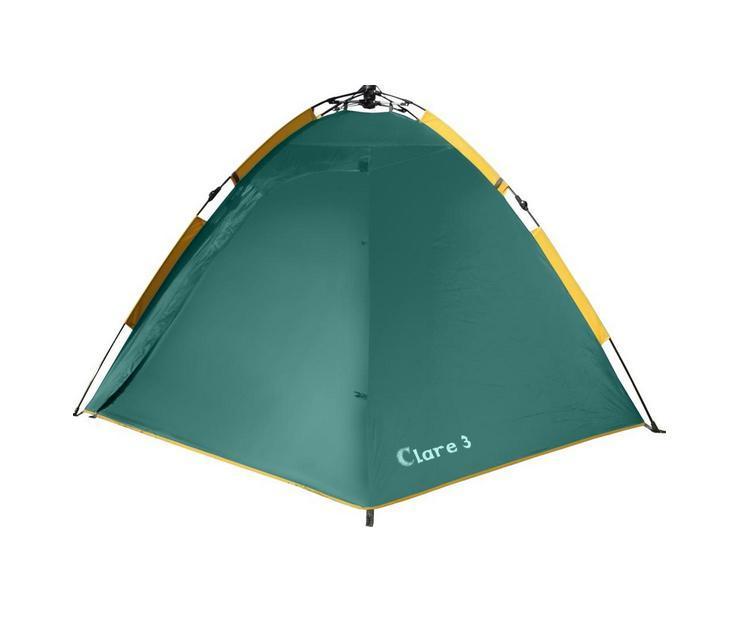 Палатка GREENELL Клер 3 V2, цвет: зеленый, 95280-303-009121.3101Самый быстрый переход к полноценному отдыху Двухслойная дуговая палатка с полуавтоматическим каркасом. Один тамбур и два вхо- да. Внутренняя палатка и тент устанавливаются одновременно. Легко ставиться одним чело- веком. Минимум времени для установки и сборки. Q-образный вход продублирован сеткой.Улучшенная сквозная вентиляция. Проклеенные швы. Облегченная регулировка оттяжек сосветовозвращающей нитью. Цвет: Зеленый. Сезон: лето.