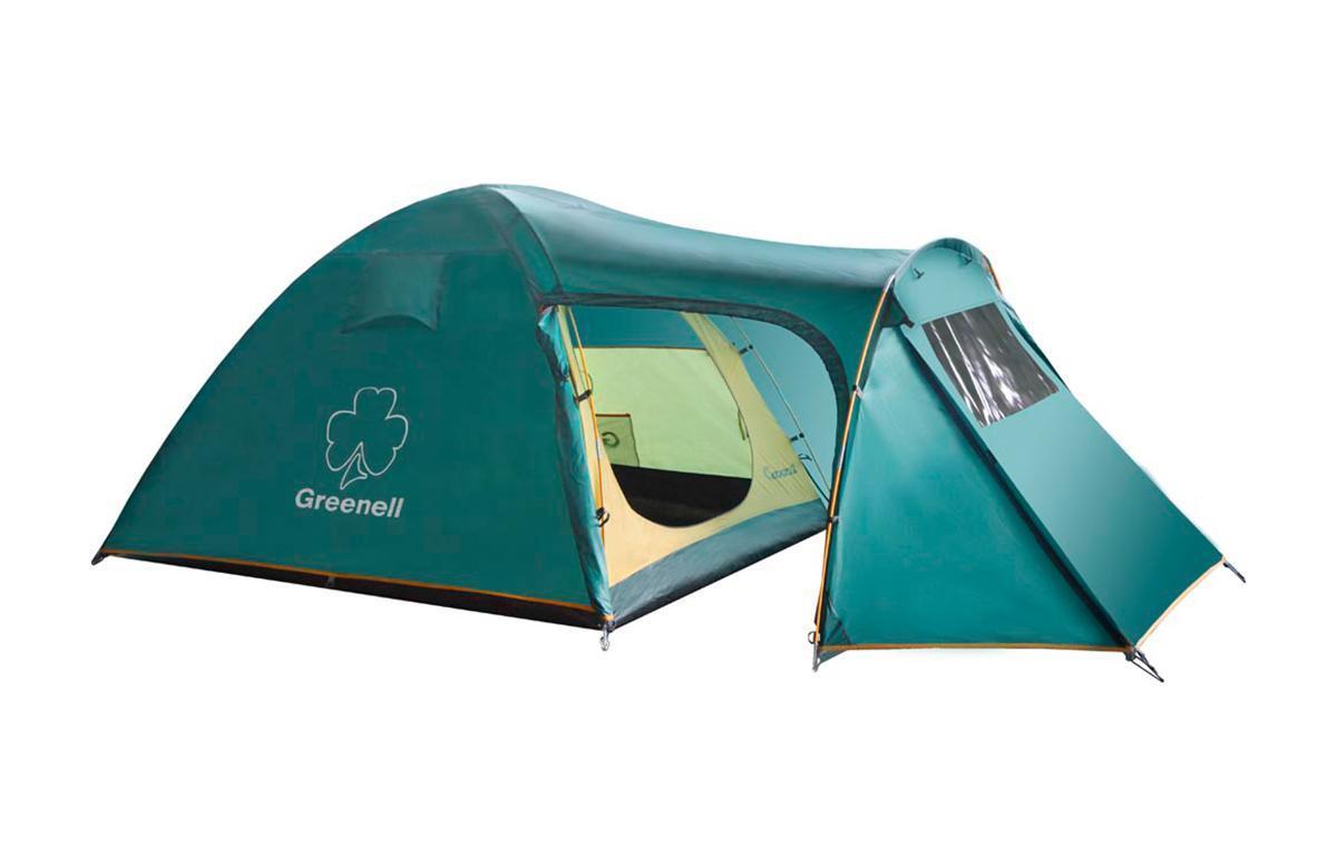 Палатка Greenell Каван 2 Green25463-303-00Палатка 2 х местная Greenell Каван 2 имеет три входа и два тамбура, один большого размера. Внутреннее пространство тамбура увеличено дугой с заданным углом.Особенности конструкции:Проклеенные швыПротивомоскитная сетка Подвесная полка Карманы Прозрачные окна Характеристики: Вместимость: 2 человека. Размер палатки в разложенном виде (ДхШхВ): 350 см х 155 см х 125 см. Наружный тент: Poly Taffeta 190T PU 3000. Внутренняя палатка: Polyester 190T дышащий. Дно: Tarpauling. Каркас:дуги из фибергласса диаметром 7,9 мм/ 8,5 мм. Вес:4720 г. Размер в сложенном виде: 66 см х 20 см х 20 см. Изготовитель:Китай. Артикул: 25463-303-00.