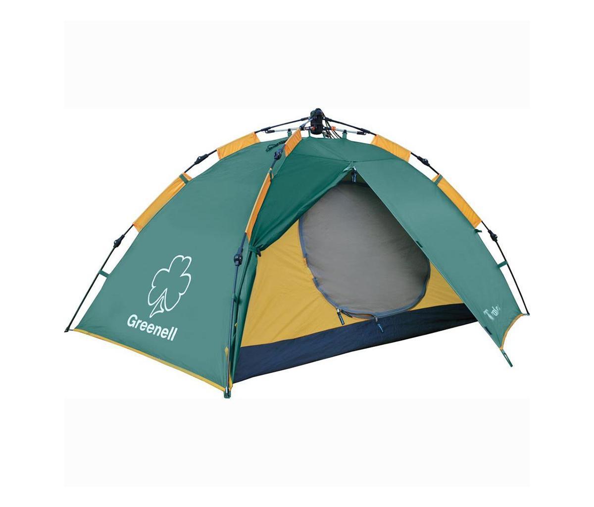Палатка Greenell Трале 2V2 GreenAS009Легкая палатка для тех кто ценит время Двухслойная дуговая палатка с полуавтоматическим каркасом. Один вход и тамбур. Вну- тренняя палатка и тент устанавливаются одновременно. Легко ставиться одним человеком.Минимум времени для установки и сборки. Проклеенные швы. Противомоскитная сетка.Q-образный вход продублирован сеткой. Улучшенная вентиляция. Облегченная регулировкаоттяжек со световозвращающей нитью. Цвет: Зеленый. Сезон: лето.