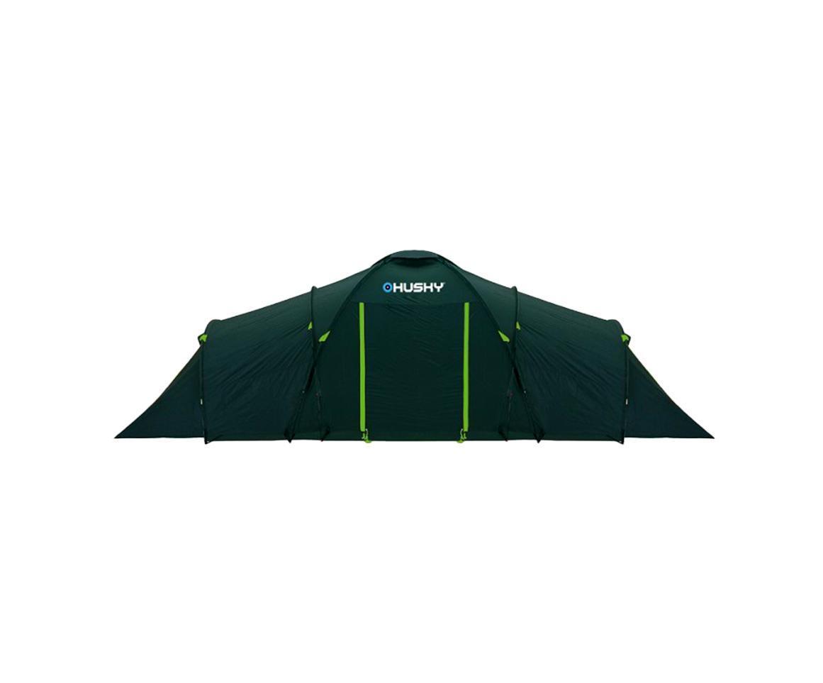 Палатка Husky Boston 8 Dark Green, цвет: темно-зеленыйУТ-000047153Кемпинговая палатка Boston 8 отлично подойдет для путешествий. Палатка рассчитана на 8 человек, состоит из двух внутренних и одного общего внешнего тента. В палатке предусмотрены четыре входа. В комплекте компрессионный мешок и противомоскитные сетки.Палатка комплектуется усиленными стекловолоконными дугами.Характеристики:Максимальная высота палатки: 185 см.Максимальная ширина палатки: 260 см.Общая длина палатки: 690 см.Длина спальни: 240 см.Длина тамбура: 210 см.Размер в сложенном виде:65 см х23 см.Материал внешнего тента: полиэстер 185.Материал внутреннего тента: нейлон 190Т.Материал пола: полиэтилен.Вес: 12500 г.Артикул:Boston 8.Изготовитель: Китай.