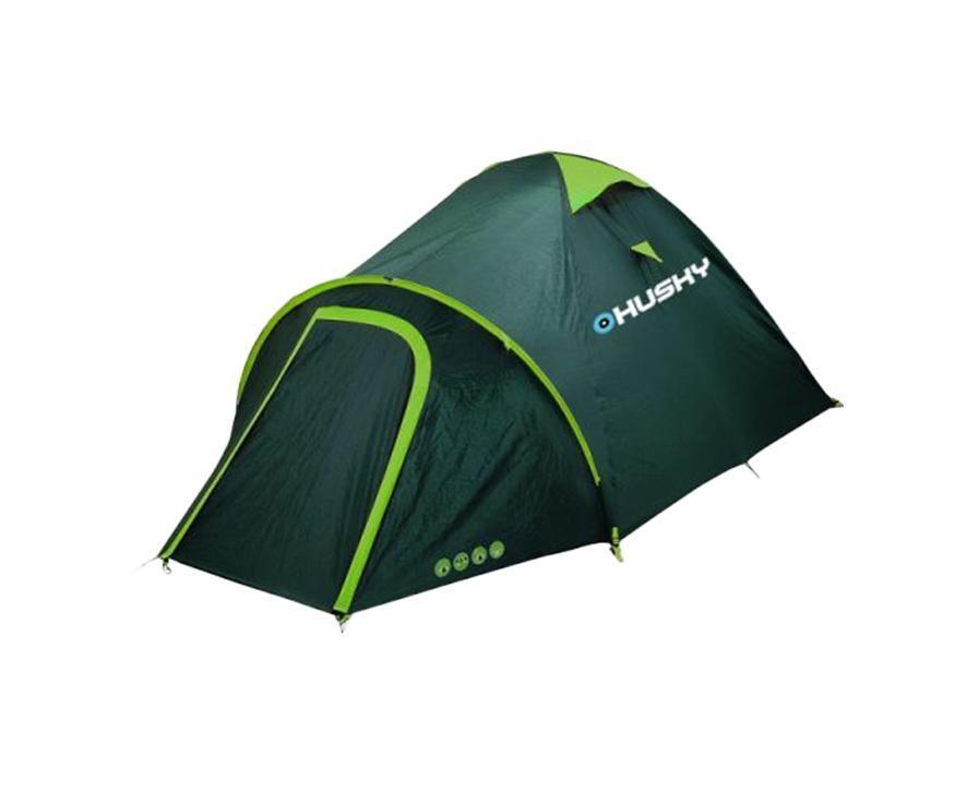 Палатка Husky Bizon 4 Dark Green палатка husky boston 8 dark green цвет темно зеленый