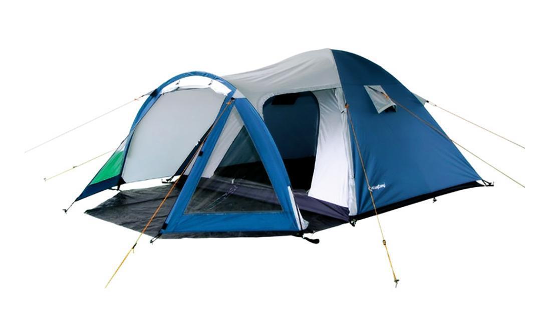 Палатка KingCamp Weekend 3 Blue-GrayУТ-000050792Трехместная палатка KingCamp Weekend 3 отлично подойдет для путешествий и кемпинга. В палатке предусмотрены два выхода и отдельный тамбур. Просторная палатка пригодна для скалолазания, высокогорных восхождений, пеших походов. В комплект входит стойки из фибергласа - 3 шт., 30 колышков из стали, 8 строп для укрепленной растяжки, противомоскитная сетка.Палатка упакована в чехол с удобной ручкой для переноски.Особенности модели:проклеенные швы силиконовая пропитка комфортная вентиляционная система сумка для переноски. Характеристики:Количество мест: 3. Размер палатки: 215 см х 220 см х 140 см. Размер тамбура:220 см х 100 см х 130 см. Количество входов:2 шт. Материал внешнего тента:полиэстер 185Т с полиуретано-силиконовым покрытием 1500 мм. Материал внутреннего тенда: полиэстер 180T. Дно: нейлон Oxford с PU 20000 мм. Габариты палатки в упакованном виде:52 см х 16 см х 16 см. Вес: 4500 г. Цвет:синий, серый. Производитель: Китай. Артикул:KT3008.