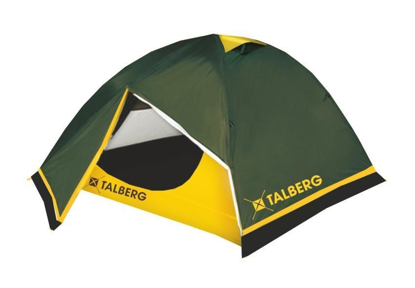 Палатка Talberg BOYARD PRO 3, цвет: зеленый67742Легкая двухслойная палатка Talberg \Boyard Pro 3\ с двумя увеличенными тамбурами и юбкой от ветра и насекомых предназначена для пешего туризма и кемпинга. Внутренняя палатка выполнена из дышащего полиэстера, швы наружного тента проклеены. Вы несомненно оцените скорость, с которой может быть установлена эта палатка. Идеально подходит для трех туристов. Состав материала: полиэстер, алюминий