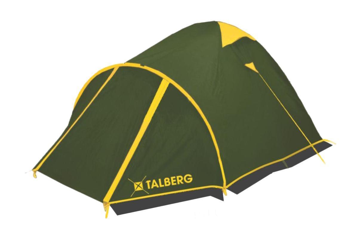 Палатка Talberg Malm Pro 367742Легкая двухслойная палатка Talberg Malm Pro 3 с большим тамбуром, алюминиевыми дугами и юбкой предназначена для пешего туризма и кемпинга.Внутренняя палатка выполнена из дышащего полиэстера, швы наружного тента проклеены. Вы несомненно оцените скорость, с которой может быть установлена эта палатка. Идеально подходит для трех туристов.Палатка упакована в сумку-чехол на застежке-молнии. Также прилагается инструкция по сборке палатки.Количество мест: 3.Размер палатки: 380 см х 220 см х 130 см.Спальная комната: 210 см х 210 см. Дуги: Alu 7001 8,5 мм.Материал внешнего тента: Polyester RipStop 190T/75D 4000 мм.Материал внутреннего тента: полиэстер.Материал дна: Polyester 195T/85D 7000 мм.Размер палатки в собранном виде: 58 см х 18 см х 18 см.