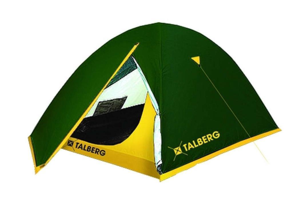 Палатка Talberg Sliper 2FS-54102Легкая двухслойная палатка Talberg Sliper 2 с двумя тамбурами и внутренним расположением дуг предназначена для пешего туризма и кемпинга.Внутренняя палатка выполнена из дышащего полиэстера, швы наружного тента проклеены.Вы несомненно оцените скорость, с которой может быть установлена эта палатка. Идеально подходит для двух туристов. Палатка упакована в сумку-чехол на застежке-молнии. Также прилагается инструкция по сборке палатки. Характеристики: Количество мест: 2. Размер палатки: 250 см х 230 см х 120 см. Спальная комната: 220 см х 150 см х 120 см. Количество входов: 2. Дуги: HQ FiberGlass 8,5 мм. Материал внешнего тента: Polyester RipStop 190T/75D 4000 мм. Материал внутреннего тента: полиэстер. Материал дна: Polyester 195T/85D 7000 мм. Размер палатки в собранном виде: 58 см х 16 см х 15 см. Вес: 3,1 кг. Изготовитель: Китай.