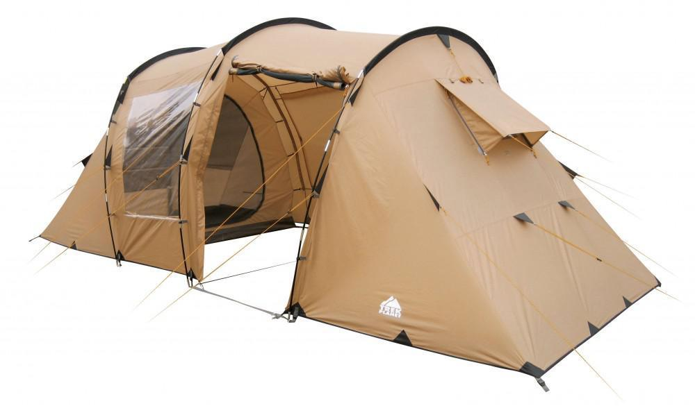 Палатка четырехместная TREK PLANET Omaha Twin 4, цвет: песочный70239Четырехместная двухслойная современная палатка TREK PLANET Omaha Twin 4 с двумя спальными отделениями, отличной вентиляцией, большим и светлым внутренним помещением между спальными отделениями. Благодаря москитной сетке на одном входе в тамбур в полный размер двери с одной стороны и огромному обзорному окну с другой стороны, достигается отличная вентиляция и отличный обзор из палатки!Особенности:-Размер внутренней палатки: 215 см х 195 см х 140 см- П-образная конструкция увеличивает полезное внутреннее пространство палатки по сравнению с традиционной конструкцией.- Тент палатки из полиэстера с пропиткой PU надежно защищает от дождя и ветра. - Все швы проклеены.- Большое и высокое внутреннее помещение между спальными отделениями палатки, где свободно размещается кемпинговый стол и стулья на четверых человек.- Москитная сетка на одном входе в во внутреннее помещение.- Большие обзорные окна со шторками во внутреннем помещении.- Дно из прочного водонепроницаемого армированного полиэтилена позволяет устанавливать палатку на жесткой траве, песчаной поверхности, глине и т.д.- Дуги из прочного стекловолокна.- Внутренние палатки из дышащего полиэстера, обеспечивают вентиляцию помещения и позволяют конденсату испаряться, не проникая внутрь палатки.- Трехпозиционные вентиляционные окна в спальных отделениях (закрыто, частично открыто, полностью открыто).- Москитная сетка на каждой двери во внутреннюю палатку в полный размер двери.- Внутренние карманы для мелочей в каждом отделении.- Возможность подвески фонаря в палатке.Для удобства транспортировки и хранения предусмотрен чехол из прочного полиэстера OXFORD, с двумя ручками и закрывающийся на застежку-молнию.