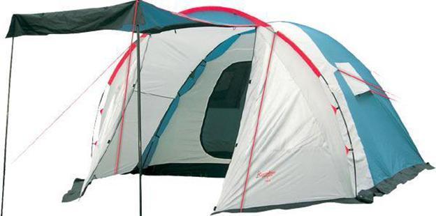 Палатка CANADIAN CAMPER RINO 5 (цвет royal)30500001Canadian Camper RINO 5 - вместительная кемпинговая палатка с тамбуром, одной спальней на 5 человек и двумя входами (один в тамбуре, один в спальне), которые защищены от насекомых москитной сеткой. Строение палатки позволяет над входом установить козырек, укрывающий от солнечных лучей. Высокая водостойкость модели позволяет ее использовать даже в сезон дождей.Ткань палатки изготовлена по технологии с усиленным плетением, что в разы повышает ее прочность.
