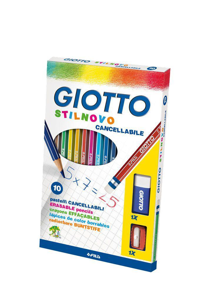Цветные карандаши Giotto Stilnovo Cancellabile с ластиком и точилкой, 10 цветов72523WDОт производителяЦветные карандаши Glotto Stilnovo непременно, понравятся вашему юному художнику. Набор включает в себя 12 ярких насыщенных цветных карандаша гексагональной формы с серебряным нанесением по ребру грани. Идеально подходят для школы. Карандаши изготовлены из сертифицированного дерева, экологически чистые, имеют прочный неломающийся грифель, не требующий сильного нажатия и легко затачиваются. Корпус карандаша оснащен индивидуальным ластиком. В набор входит дополнительный ластик и точилка. Порадуйте своего ребенка таким восхитительным подарком! Цветные карандаши Glotto Stilnovo непременно, понравятся вашему юному художнику. Набор включает в себя 12 ярких насыщенных цветных карандаша гексагональной формы с серебряным нанесением по ребру грани. Идеально подходят для школы. Карандаши изготовлены из сертифицированного дерева, экологически чистые, имеют прочный неломающийся грифель, не требующий сильного нажатия и легко затачиваются. Корпус карандаша оснащен индивидуальным ластиком. В набор входит дополнительный ластик и точилка. Порадуйте своего ребенка таким восхитительным подарком! Характеристики:Материал:дерево, грифель. Диаметр карандаша:0,7 см. Длина карандаша:18 см. Размер упаковки:22,5 см х 11,5 см х 1,5 см. Изготовитель:Китай.